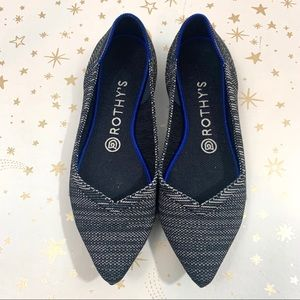 Rothys | Granite Heather Pointed Toe Flats 7.5